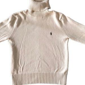 Like new Ralph Lauren off white turtleneck sweater